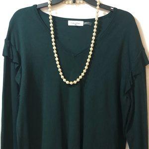 2/$16 or 3/$20 Calvin Klein Green Sweater